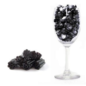 Glass and Black Licorice