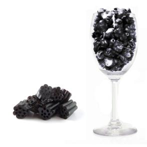 Glass and Black Licorice