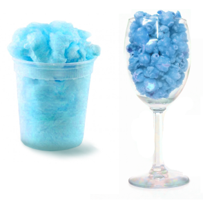 Glass and Blue Cotton Candy