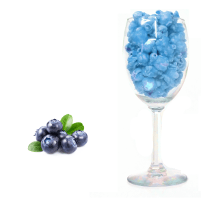 Glass and Blueberry