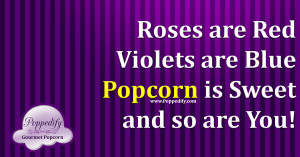 Popcorn roses are red