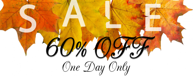 One Day Sale 60% off Everything